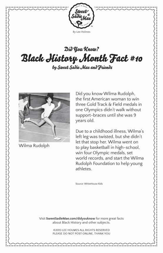 The Will of Wilma Rudolph: Black History Month Fact 10