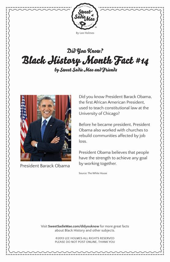 President Obama Before He Became President