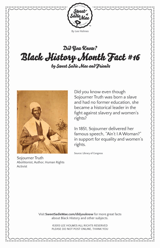 Sojourner Truth Black History Fact