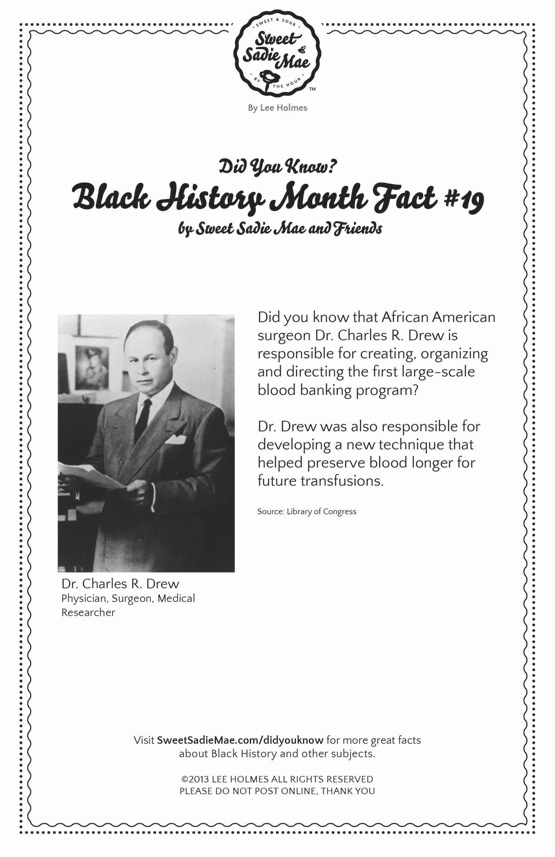 Dr. Charles R. Drew Black History Month Facts