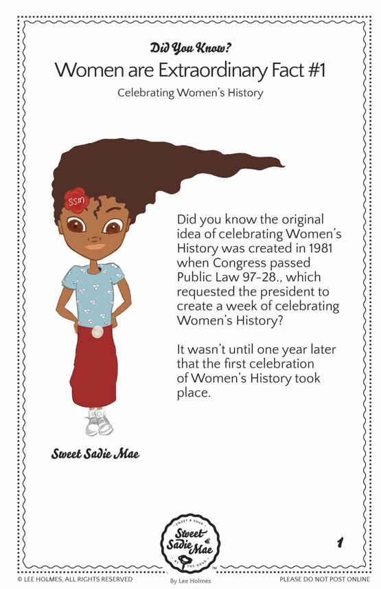 Celebrating Women's History: Women Are Extraordinary Women History Fact