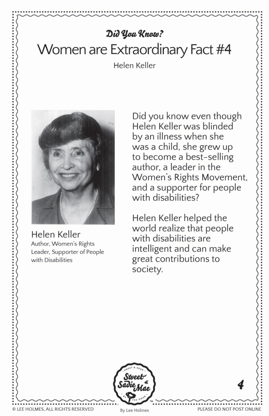 Helen Keller: Did You Know Women Are Extraordinary